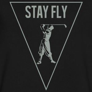 stay_fly_golf T-Shirts - Men's V-Neck T-Shirt by Canvas
