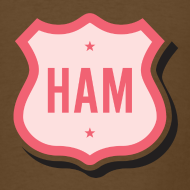 Design ~ Ham Badge Men's Standard Weight T-Shirt
