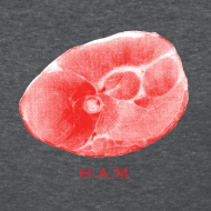 Design ~ Ham Slab Women's Standard Weight T-Shirt