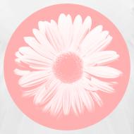 Design ~ Pink Beige Circled Flower Graphic Print Premium T-Shirt