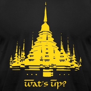 Wat's Up? - Men's T-Shirt by American Apparel
