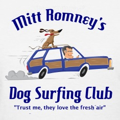 Mitt Romney Dog Car Shirt Women's T-Shirts