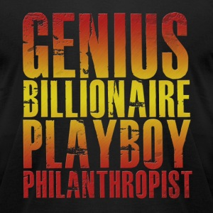 Genius Billionaire Playboy Philanthropist T-Shirts - Men's T-Shirt by American Apparel