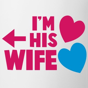 I'm his Wife with left arrow Gift - Coffee/Tea Mug