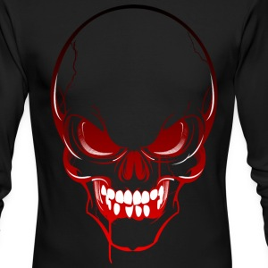 Horror Skull Long Sleeve Shirts - Men's Long Sleeve T-Shirt by Next Level