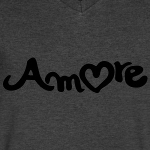 amore T-Shirts - Men's V-Neck T-Shirt by Canvas