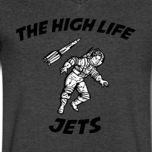 The High Life - Jets T-Shirts - Men's V-Neck T-Shirt by Canvas