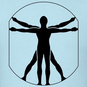 Vitruvian Man - VECTOR T-Shirts - Men's T-Shirt