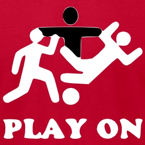 No foul, play on T-Shirts - Men's T-Shirt by American Apparel