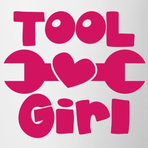TOOL girl with spanner and a love heart Accessories - Coffee/Tea Mug