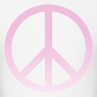 Design ~ PINK OMBRE PEACE SIGN - MENS TSHIRT