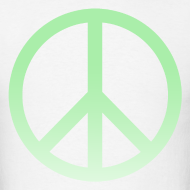 Design ~ MINT OMBRE PEACE SIGN - MENS TSHIRT