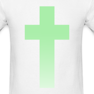 Design ~ MINT OMBRE CROSS - MENS TSHIRT