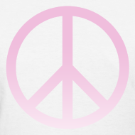 Design ~ PINK OMBRE PEACE SIGN - LADIES TSHIRT