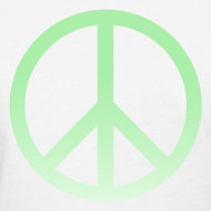 Design ~ MINT OMBRE PEACE SIGN - LADIES TSHIRT
