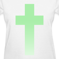 Design ~ MINT OMBRE CROSS - LADIES TSHIRT