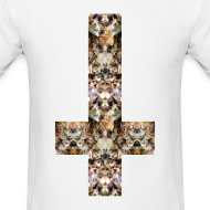 Design ~ INVERTED CAT CROSS - MENS TSHIRT