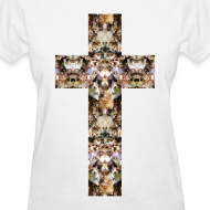 Design ~ CAT CROSS - LADIES TSHIRT