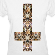Design ~ INVERTED CAT CROSS - LADIES TSHIRT