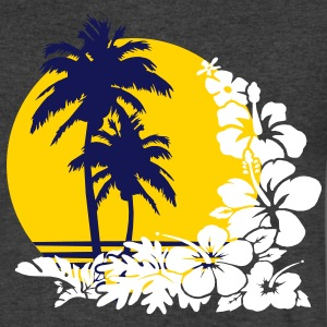 palm sunset T-Shirts - Men's V-Neck T-Shirt by Canvas