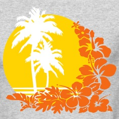 palm sunset Long Sleeve Shirts