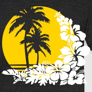 palm sunset T-Shirts - Unisex Tri-Blend T-Shirt by American Apparel