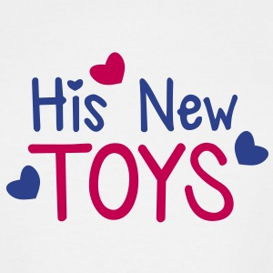 His new toys with cute little love hearts funny! T-Shirts - Men's Tall T-Shirt