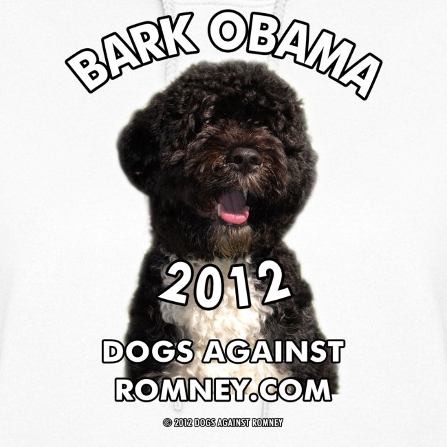 """Official Dogs Against Romney """"Bark Obama"""" Hoodie"""