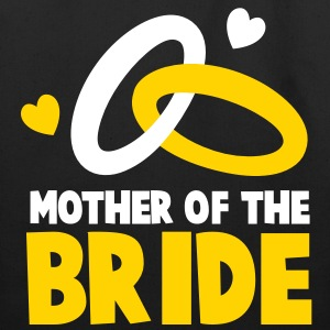 MOTHER OF THE BRIDE with cute love hearts and rings Bags  - Eco-Friendly Cotton Tote