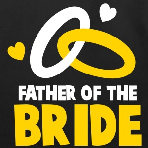 FATHER OF THE BRIDE with cute love hearts and rings Bags  - Eco-Friendly Cotton Tote