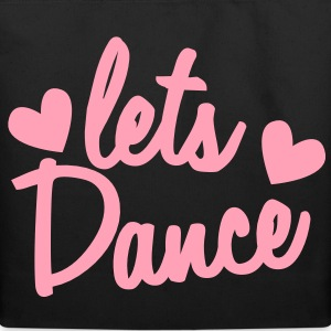 lets dance with cute little love hearts Bags  - Eco-Friendly Cotton Tote