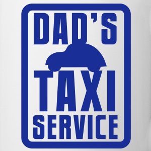 CAR with Dad's TAXI service in a rectangle Accessories - Coffee/Tea Mug