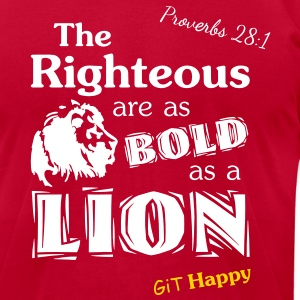 Proverbs 28:1 T-Shirts - Men's T-Shirt by American Apparel