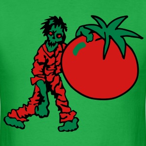 Zombie with Tomato T-Shirts - Men's T-Shirt