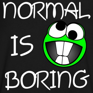 Normal is boring T-Shirts - Men's V-Neck T-Shirt by Canvas