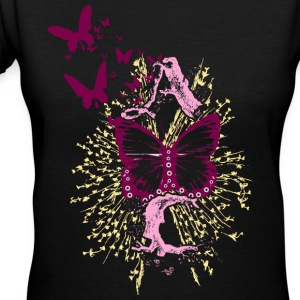 A Butterfly C - Women's V-Neck T-Shirt