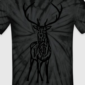 wild stag deer moose elk antler antlers horn horns cervine hart bachelor party night hunter hunting T-Shirts - Unisex Tie Dye T-Shirt