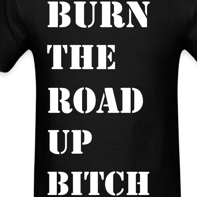 Burn the road up in Stencil