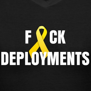 F%CK deployments - Women's V-Neck T-Shirt