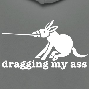 dragging my ass with donkey pulling on reins Zip Hoodies/Jackets - Unisex Fleece Zip Hoodie by American Apparel