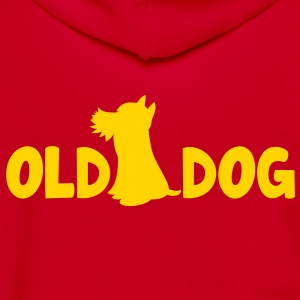 OLD DOG with puppy good for the old man! Zip Hoodies/Jackets - Unisex Fleece Zip Hoodie by American Apparel