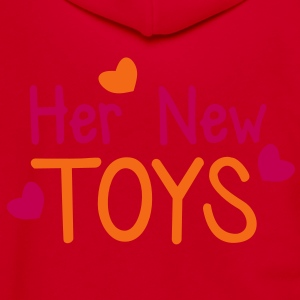 Her new toys with cute little love hearts funny! Zip Hoodies/Jackets - Unisex Fleece Zip Hoodie by American Apparel