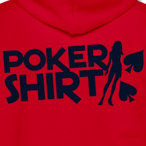 Poker shirt with a sexy lady  Zip Hoodies/Jackets - Unisex Fleece Zip Hoodie by American Apparel