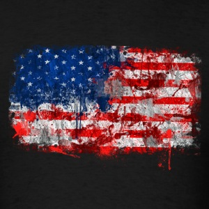 USA Flag grunge - Men's T-Shirt
