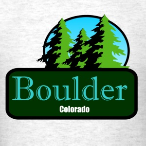 Boulder Colorado t shirt truck stop novelty - Men's T-Shirt