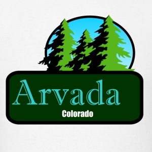 Arvada Colorado t shirt truck stop novelty - Men's T-Shirt