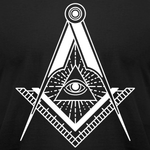 All Seeing Eye (Black) - T-Shirts - Men's T-Shirt by American Apparel