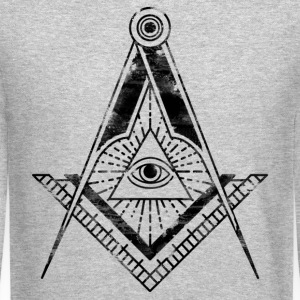 All Seeing Eye (Faded Black) - Long Sleeve Shirts - Crewneck Sweatshirt