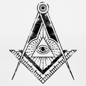 All Seeing Eye (Faded Black) - Women's T-Shirts - Women's V-Neck T-Shirt
