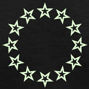 12 star circle (1c) Women's T-Shirts - Women's V-Neck T-Shirt